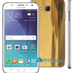 Samsung Galaxy J7 Adesivo Skin Metal Ouro Gold