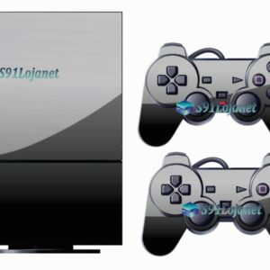 Skin Ps2 Playstation 2 Original Adesivo Brilho Preto Black Piano