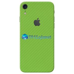 iPhone XR Adesivo Skin Carbono Verde