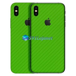 iPhone XS Adesivo Skin Carbono Verde