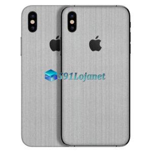 iPhone XS Max Adesivo Skin Metal Aluminio Escovado