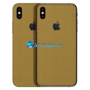 iPhone XS Max Adesivo Skin Metal Ouro Gold