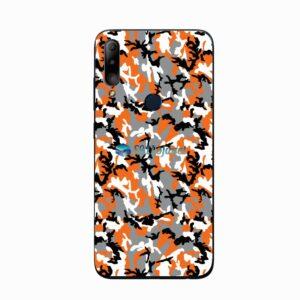 ASUS ZenFone Max Plus (M2) Skin Adesivo Camo Laranja