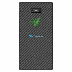 Razer Phone 2 Adesivo Traseiro Película Skin Carbono Preto