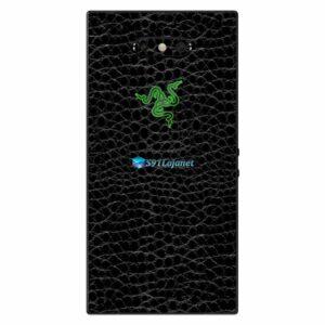 Razer Phone 2 Adesivo Traseiro Película Skin Couro Negro