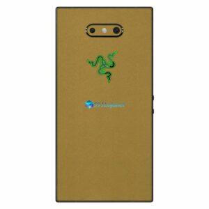 Razer Phone 2 Adesivo Traseiro Película Skin Metal Dourado