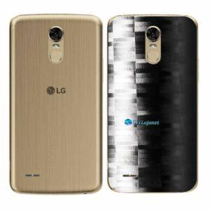 LG K10 Pro Adesivo Traseiro Película FX Pixel Black