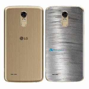 LG K10 Pro Adesivo Traseiro Película Metal Escovado