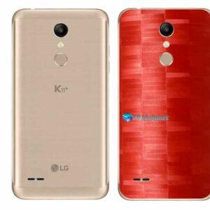 LG K11+ Adesivo Traseiro Película FX Pixel Vermelho