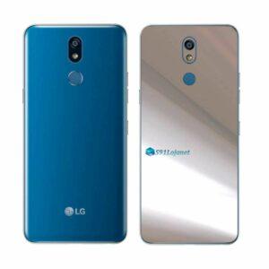 LG K12+ Adesivo Traseiro Película Metal Cromo