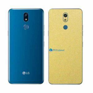 LG K12+ Adesivo Traseiro Película Metal Dourado