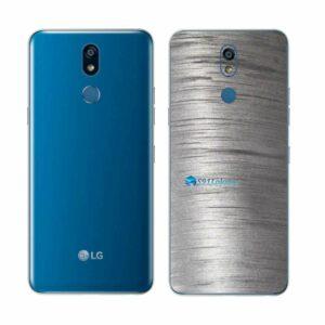 LG K12+ Adesivo Traseiro Película Metal Escovado