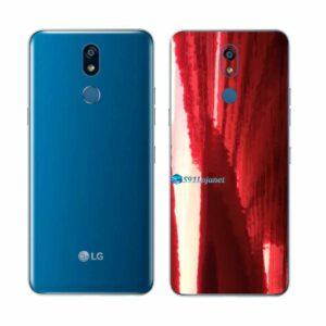 LG K12+ Adesivo Traseiro Película Metal Gold Red