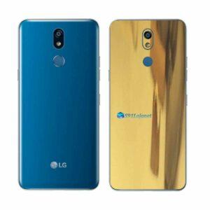 LG K12+ Adesivo Traseiro Película Metal Ouro Gold