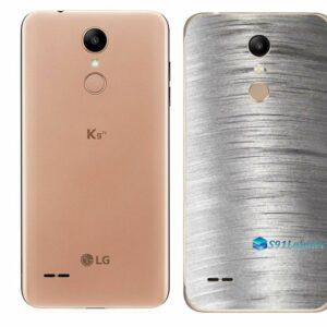 LG K9 TV Adesivo Traseiro Película Metal Escovado
