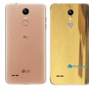 LG K9 TV Adesivo Traseiro Película Metal Ouro Gold