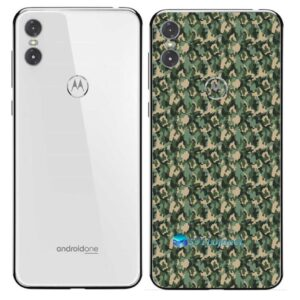 Motorola One Adesivo Traseiro Película Camo Verde