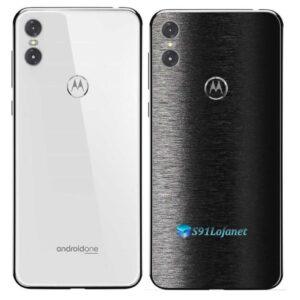 Motorola One Adesivo Traseiro Película FX Preto Escovado