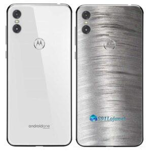 Motorola One Adesivo Traseiro Película Metal Escovado