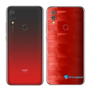 Redmi 7 Adesivo Skin Película Traseira FX Pixel Vermelho