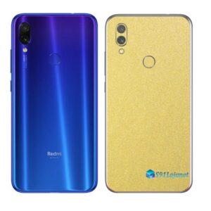 Redmi Note 7 Adesivo Skin Película Metal Dourado