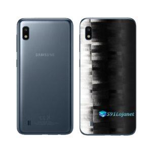 Galaxy A10 Adesivo Skin Película Tras FX Pixel Black