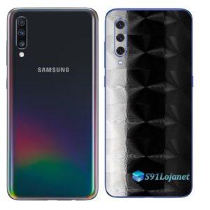 Galaxy A70 Adesivo Skin Película Tras FX Dimension Black
