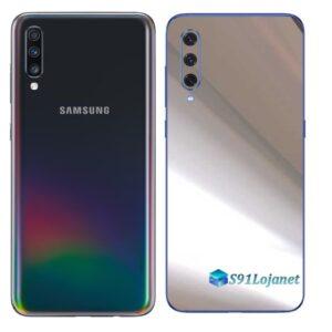 Galaxy A70 Adesivo Skin Película Tras Metal Cromo