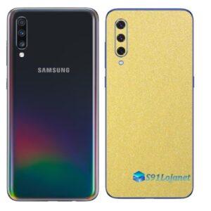 Galaxy A70 Adesivo Skin Película Tras Metal Dourado