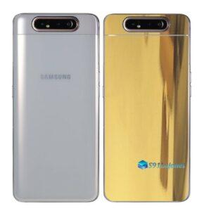 Galaxy A80 Adesivo Skin Película Tras Metal Ouro Gold