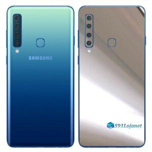 Galaxy A9 Adesivo Skin Película Traseira Metal Cromo