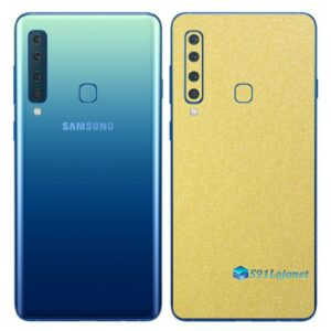 Galaxy A9 Adesivo Skin Película Traseira Metal Dourado