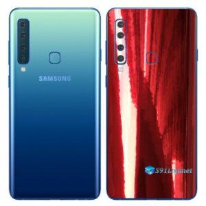 Galaxy A9 Adesivo Skin Película Traseira Metal Gold Red