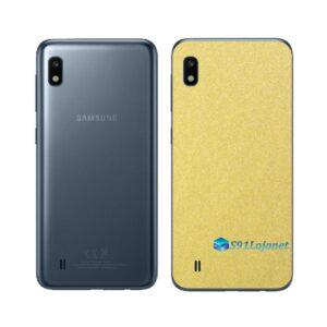 Galaxy M10 Adesivo Skin Película Tras Metal Dourado