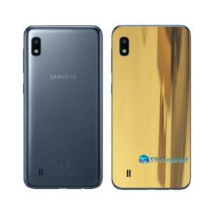 Galaxy M10 Adesivo Skin Película Tras Metal Ouro Gold