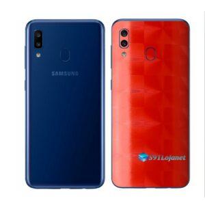 Galaxy M20 Adesivo Skin Película Tras FX Dimension Red