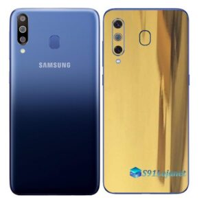 Galaxy M30 Adesivo Skin Película Tras Metal Ouro Gold