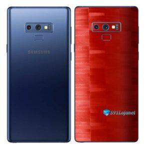 Galaxy Note9 Adesivo Skin Película Tras FX Pixel Vermelho