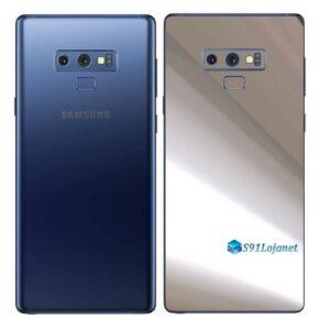 Galaxy Note9 Adesivo Skin Película Tras Metal Cromo