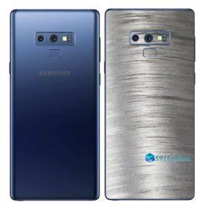 Galaxy Note9 Adesivo Skin Película Tras Metal Escovado