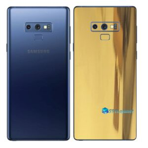 Galaxy Note9 Adesivo Skin Película Tras Metal Ouro Gold