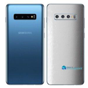 Galaxy S10+ Adesivo Skin Película Traseiro FX Couro Branco