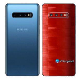 Galaxy S10 Adesivo Skin Película Traseiro FX Pixel Branco