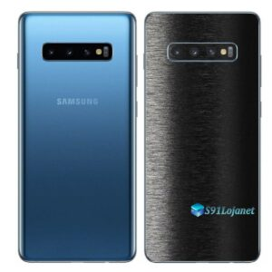 Galaxy S10 Adesivo Skin Película Traseiro FX Preto Escovado