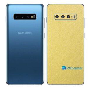 Galaxy S10 Adesivo Skin Película Traseiro Metal Dourado