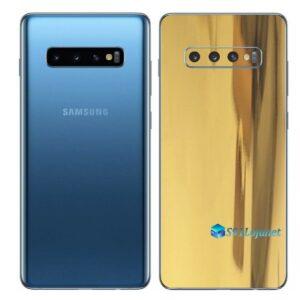 Galaxy S10 Adesivo Skin Película Traseiro Metal Ouro Gold