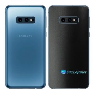 Galaxy S10e Adesivo Skin Película Tras FX Deep Black Preto