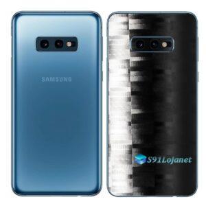 Galaxy S10e Adesivo Skin Película Tras FX Pixel Black