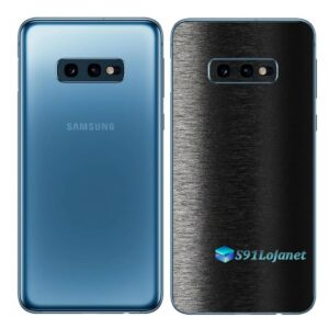 Galaxy S10e Adesivo Skin Película Tras FX Preto Escovado