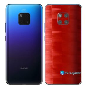 Huawei Mate 20 Pro Adesivo Skin Película FX Pixel Vermelho